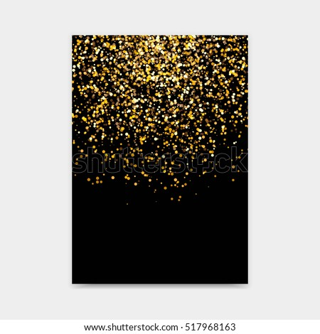 Vector abstract golden glitter design template for brochures, flyers, posters, banners and other
