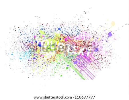 Vector abstract paint splatter / spray