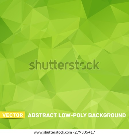 Vector abstract polygonal green background