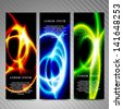 Vector abstract vertical banners. - stock photo