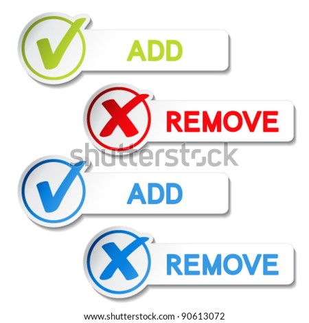 Vector add remove item