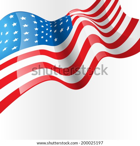 vector american flag design background