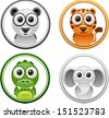 vector animals badge set 5 - Separate layers for easy editing - stock vector