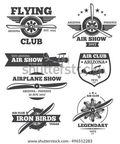 Vintage ag aviation logos
