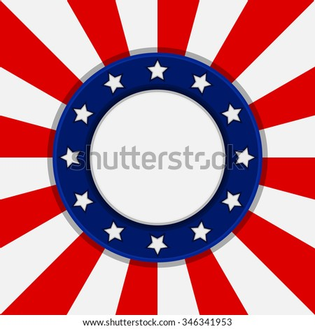 Vector banner in the colors of the national flag of the USA.