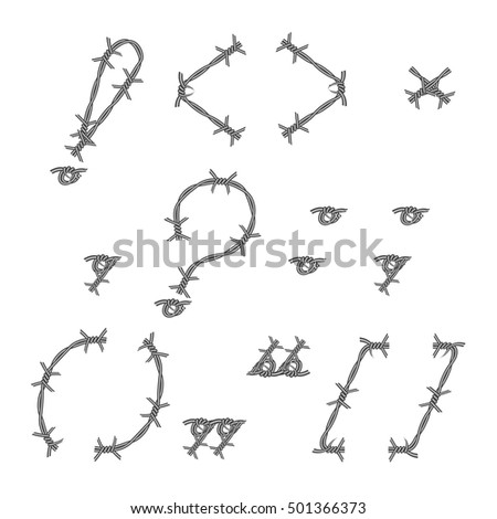 barbed wires vector pattern brush stock vector 32439745