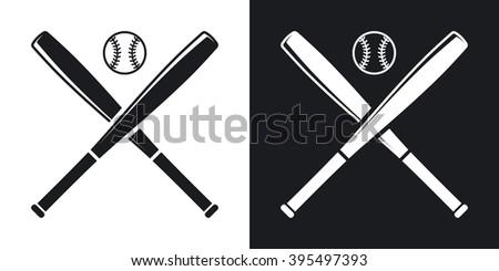 Vector Baseball Bat Icon Stock Vector 324381794 - Shutterstock
