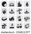 vector black Spa icons set - stock vector