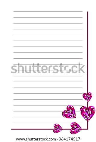 Line Paper Template Purple Candy Illustration Stock Vector
