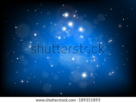 Vector blue abstract background illustration - Vector space blue background illustration
