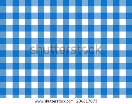 Perfect Vector Blue Gingham Fabric Texture (for A Traditional Tablecloth, Curtains,  Plaid, Etc