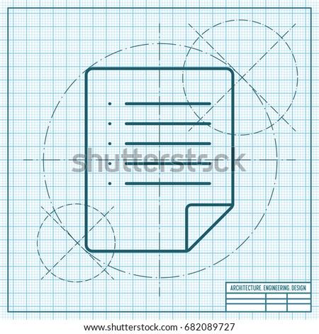 Vector technical blueprint mechanism engineer illustration vectores vector blueprint document icon on engineer and architect background malvernweather Images