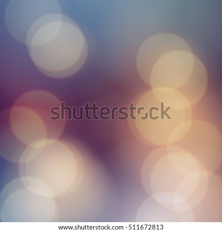 Vector bokeh background. Festive defocused lights. Abstract blurred illustration.