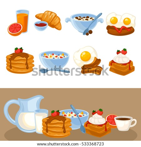Vector Infographics Healthy Eating Concept Daily Stock ...