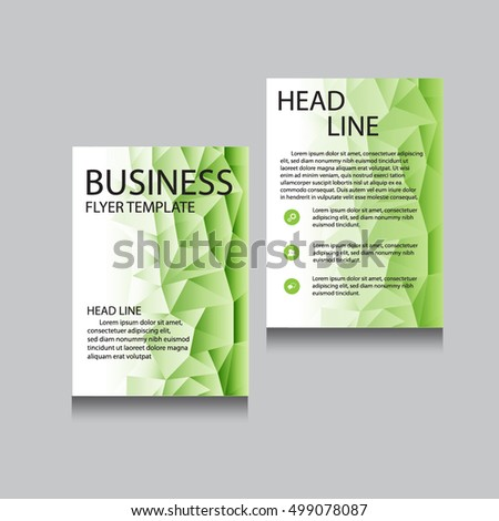 Green Leaves Trifold Nature Spring Brochure Vector 206506003 – Editable Leaf Template