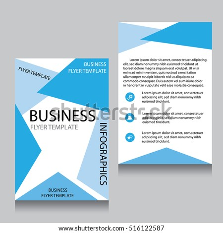 Vector Brochure Flyer design Layout template, Front page and back page, templates, website, Editable vector illustration, Abstract background, A4.