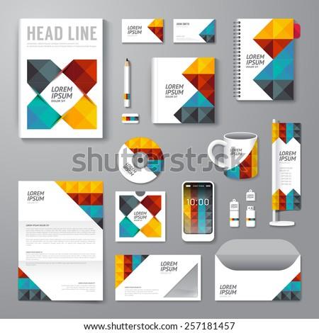 White Corporate Identity Template Design Color Stock Vector ...