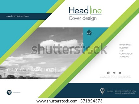 Vector Brochure Flyer Template Layout A4 Vector 571854478 – Pamphlet Layout Template