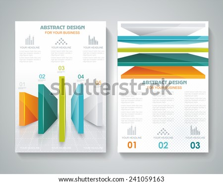 Flyer design business brochure template annual stock for 3d brochure design