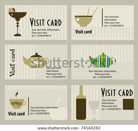 Vector business card for cafe and restoran
