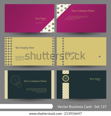 vector business card template set japanese stock vector 230097148