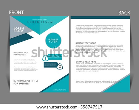 Vector Business Flyer Magazine Cover Poster Stock Vector
