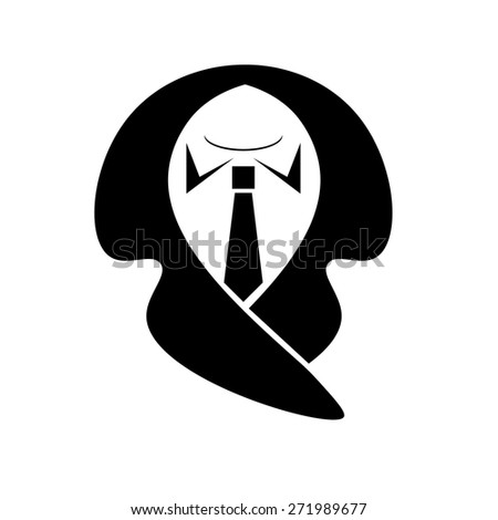 Business suit icon isolated on white stock illustration 271989719