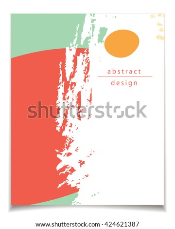 green color red vector card set abstract design red stock vector 436027360