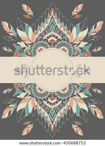 Vector Card Templates In Boho Style For Special Events Can Be Used As Invitations