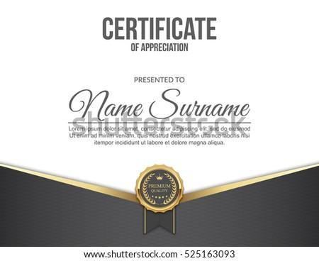 Vector Certificate Template Stock Vector 332946890 - Shutterstock