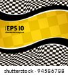 vector checkered racing background. EPS10 - stock photo