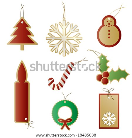 Vector - Christmas gift tags or labels for presents.