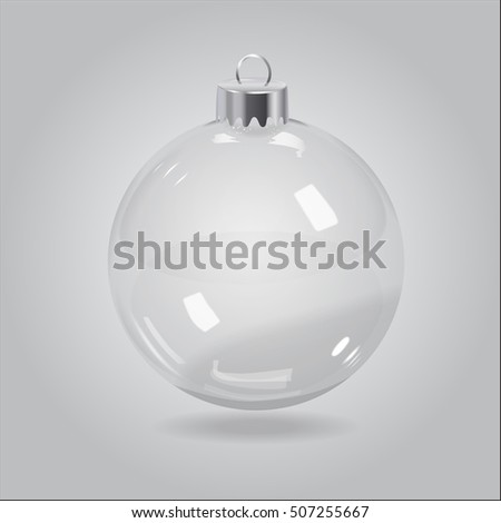 Vector Christmas Transparent Bauble