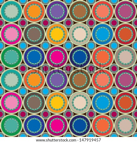 vector circle dot colorful pattern background
