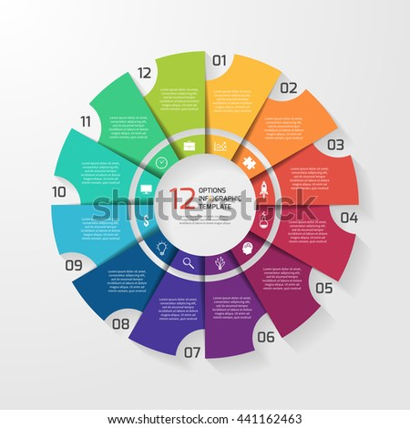 pie chart circle infographic template 12 stock vector 464224484 shutterstock. Black Bedroom Furniture Sets. Home Design Ideas