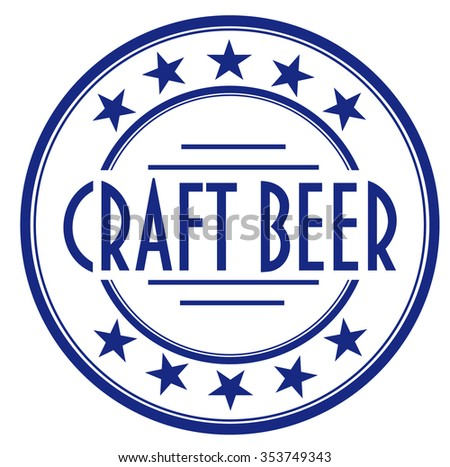 "vector circle stamp ""craft beer"""