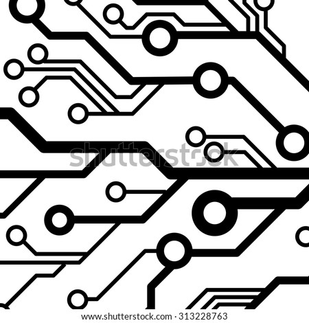 computer chip circuit board semiconductors flat stock
