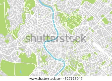 Vector City Map Rome Italy Stock Vector 373222363 Shutterstock