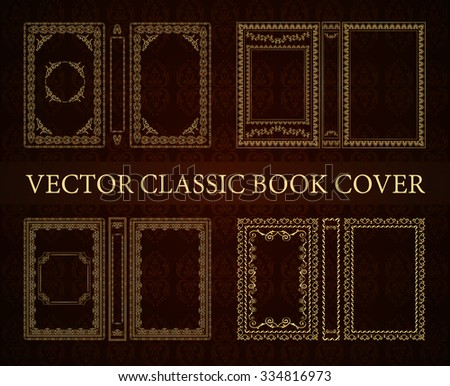 Vector set classical book cover decorative stock vector - Decorative books for display ...