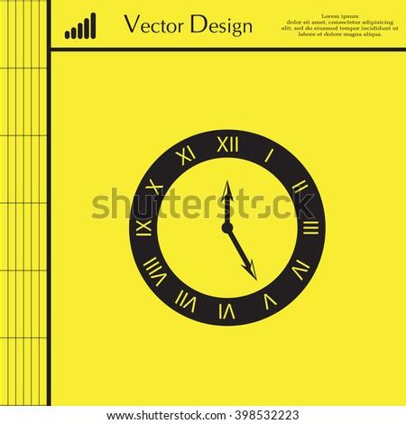 Octagon Clock Vector Illustration Stock Vector 140202142