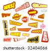 VECTOR Collection of colorful of Comic Word Expressions - Set 2b - stock vector