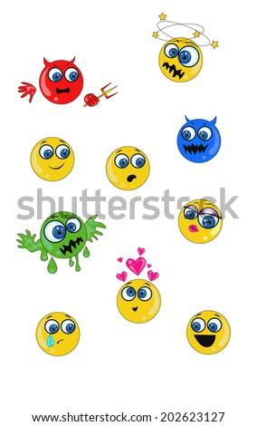 vector collection of emoticons