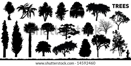 vector collection of some trees