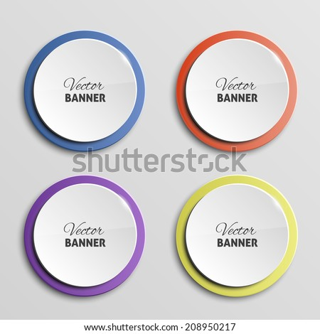 Vector color banners