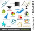 Vector Color Symbol Design. Design Elements. - stock vector