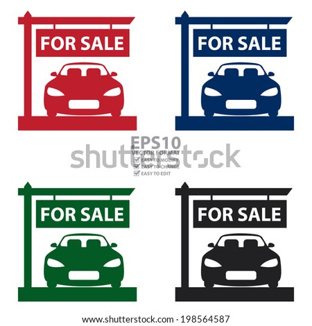 where to buy for sale signs for car