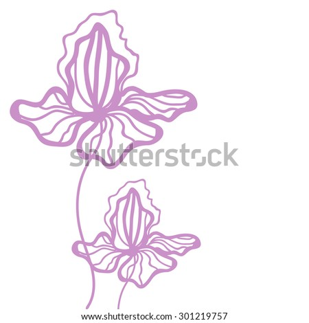 Drawing vector graphics floral pattern design stock vector vector colorful floral template background with iris flowers vector floral texture pronofoot35fo Image collections
