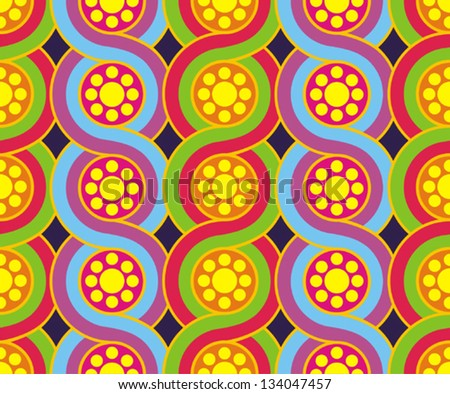 Vector colorful seamless pattern