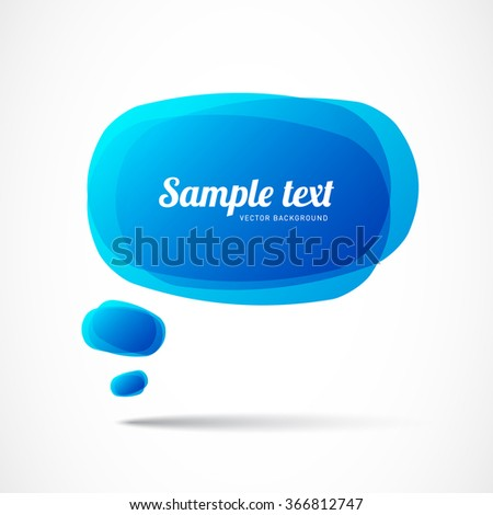 Vector colorful speech bubble