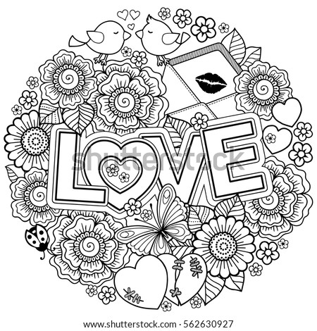 hearts and kisses coloring pages - photo#24